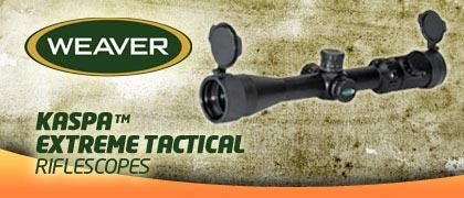 Weaver Kaspa Tactical Rifle Scopes
