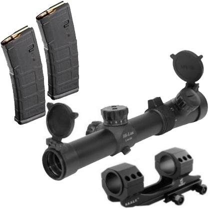 Leatherwood 1-4x24 CMR Tactical 30mm Rifle Scope Kit