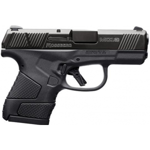 Mossberg 89002 MC1 Sub-Copmact 9mm Luger Double 3.4 CBS 6+1|7+1 Black Polymer Grip|Frame Black Stainless Steel Slide in.