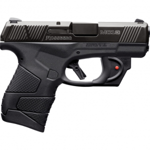 Mossberg 89004 MC1 Sub-Compact Viridian Laserguard 9mm Luger Double 3.4 6+1|7+1 Black Polymer Grip|Frame Black Stainless Steel Slide in.