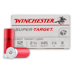 Winchester Ammo TRGT128 Super Target 12 Gauge 2.75 1-1|8 oz 8 Shot 25 Bx| 10 in.