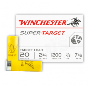 Winchester Ammo TRGT207 Super Target 20 Gauge 2.75 7|8 oz 7.5 Shot 25 Bx| 10 in.