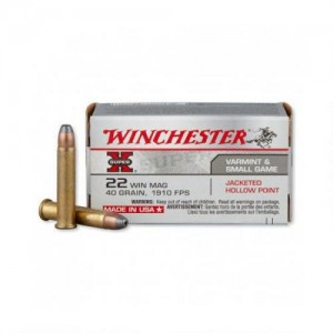 Winchester Ammo X22MH150 Super-X Value Pack 22 Winchester Magnum Rimfire (WMR) 40 GR Jacketed Hollow Point 150 Bx| 3 Cs