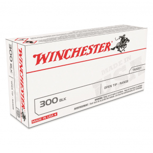 Winchester Ammo USA300BLK Best Value FMJ 300 AAC Blackout|Whisper (7.62x35mm) 125 GR Full Metal Jacket 20 Bx| 10 Cs