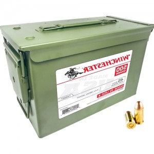 Winchester Ammo USA45AC USA Centerfire 45 Automatic Colt Pistol (ACP) 230 GR Full Metal Jacket 500RD Ammo Can