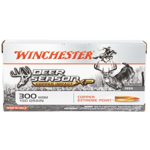 Winchester Ammo X300SDSLF Deer Season XP Copper Impact 300 WSM 150 gr Extreme Point 20 Bx/ 10 Cs