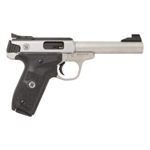 Smith & Wesson 11536 SW22 Victory Target *MA Compliant* Single 22 Long Rifle (LR) 5.5 10+1 Black Polymer Grip Stainless Steel in.