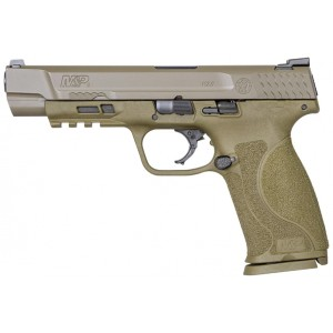 Smith & Wesson 11989 M&P 9 M2.0 9mm Luger Double 5 17+1 NMS Flat Dark Earth Interchangeable Backstrap Grip Flat Dark Earth Armornite Stainless Steel Slide in.