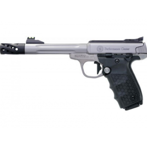 Smith & Wesson 12078 Performance Center Victory Target 22 Long Rifle (LR) Single 6 10+1 Black Polymer Grip Stainless Steel in.