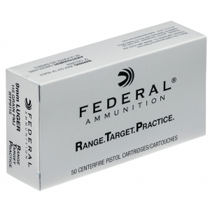 Federal RTP9115 Range and Target  9mm Luger 115 GR Full Metal Jacket 50 Bx| 20 Cs
