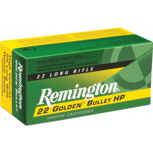 Remington Ammunition 21229 Golden Bullet High Velocity 22 Long Rifle (LR) 36 GR Plated Hollow Point 225 Bx| 10 Cs