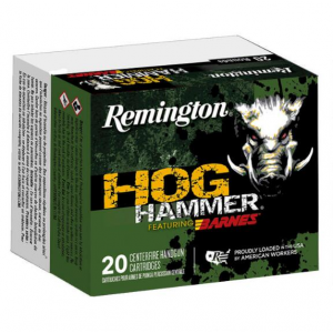 Remington Ammunition Hog Hammer Handgun 10mm Automatic 155 GR Barnes XPB 20 Bx/ 10 Cs