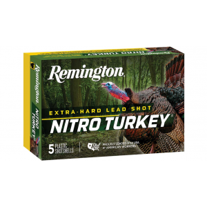 Remington Ammunition NT12355A Nitro Turkey 12 Gauge 3.5 2 oz 5 Shot 5 Bx/ 20 Cs in.
