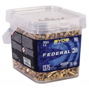 Federal 750BKT1375 Small Game Target BYOB 22 LR 36 GR Copper-Plated Hollow Point 1375 Bx/ 12 Cs
