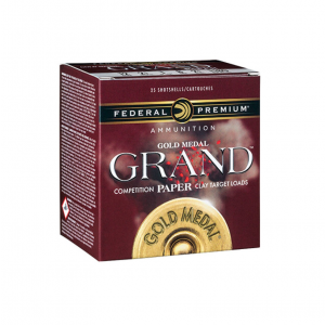 Federal GMT17175 Gold Medal Grand Paper 12 Gauge 2.75 1-1|8 oz 7.5 Shot 25 Bx| 10 Cs in.