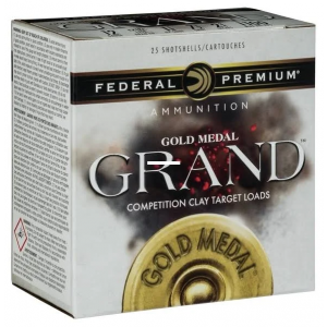 Federal GMT1188 Gold Medal Grand Paper 12 Gauge 2.75 1-1|8 oz 8 Shot 25 Bx| 10 Cs in.
