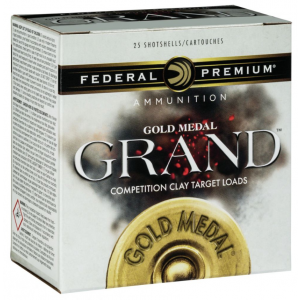 Federal GMT11775 Gold Medal Grand Paper 12 Gauge 2.75 1-1|8 oz 7.5 Shot 25 Bx| 10 Cs in.