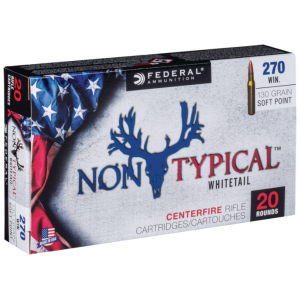 Federal 270DT130 Non-Typical Whitetail 270 Winchester 130 GR Soft Point 20 Bx| 10 Cs