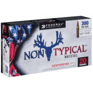 Federal 300WDT150 Non-Typical Whitetail 300 Winchester Magnum 150 GR Soft Point 20 Bx| 10 Cs