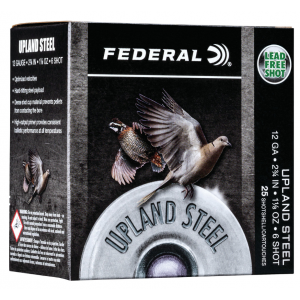 Federal USH126 Field & Range 12 Gauge 2.75 1-1/8 oz 6 Shot 25 Bx/ 10 Cs in.
