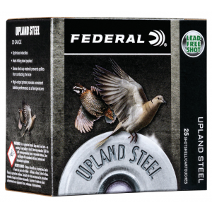 Federal USH2075 Field & Range 20 Gauge 2.75 7/8 oz 6 Shot 25 Bx/ 10 Cs in.