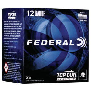 Federal TGSF12875 Top Gun Sporting 12 Gauge 2.75 1 oz 7.5 Shot 25 Bx/ 10 Cs in.