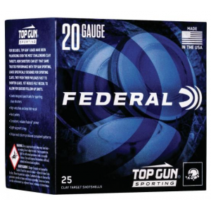 Federal TGS22475 Top Gun Sporting 20 Gauge 2.75 7/8 oz 7.5 Shot 25 Bx/ 10 Cs in.
