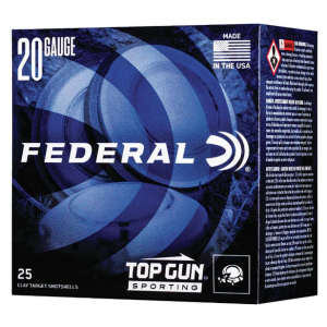 Federal TGS2248 Top Gun Sporting 20 Gauge 2.75 7/8 oz 8 Shot 25 Bx/ 10 Cs in.