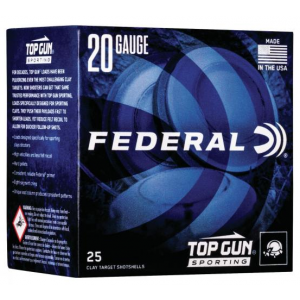 Federal TGS282175 Top Gun Sporting 28 Gauge 2.75 3/4 oz 7.5 Shot 25 Bx/ 10 Cs in.