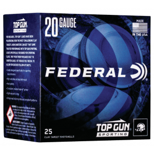 Federal TGS28219 Top Gun Sporting 28 Gauge 2.75 3/4 oz 9 Shot 25 Bx/ 10 Cs in.