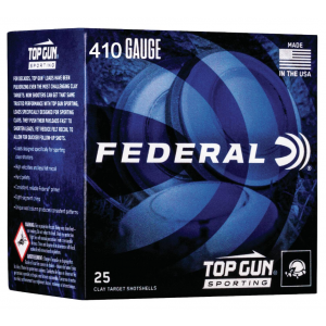Federal TGS4121475 Top Gun Sporting 410 Gauge 2.75 1/2 oz 7.5 Shot 25 Bx/ 10 Cs in.