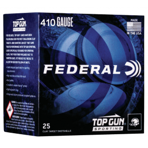 Federal TGS412149 Top Gun Sporting 410 Gauge 2.75 1/2 oz 9 Shot 25 Bx/ 10 Cs in.