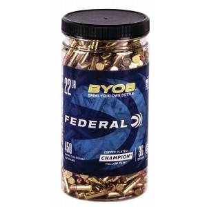 Federal 750BTL450 Small Game Target BYOB 22 Long Rifle (LR) 36 GR Copper Plated Hollow Point (CPHP) 450 Bx/ 8 Cs