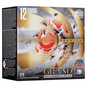 Federal GMT1199 Premium Gold Medal Grand Plastic 12 Gauge 2.75 1 oz 9 Shot 25 Bx/ 10 Cs in.