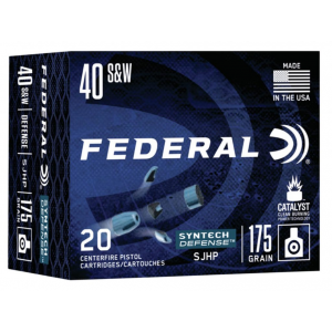Federal S40SJT1 Syntech Defense 40 Smith & Wesson 175 GR Segmented Hollow Point 20 Bx/ 10 Cs