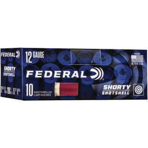 Federal SH1294B Shorty 12 Gauge 1.75 Shotshell 4 Buck Shot 10 Bx/ 10 Cs in.