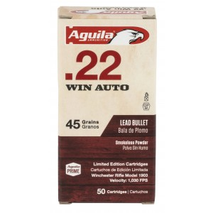 Aguila 1B222504 Rifle 22 Win 45 gr Lead Round Nose (LRN) 50 Bx/ 100 Cs