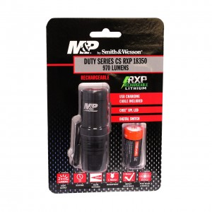 Smith & Wesson Accessories Duty Series CS, RXP Rechargeable, 1x18350