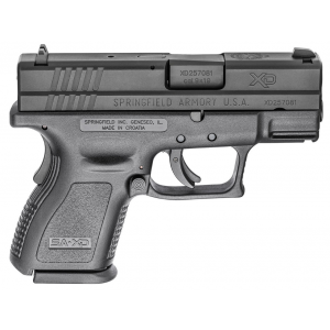 Springfield Armory XDD9801 XD Defender Sub-Compact 9mm Luger Double 3 10+1 Black Polymer Grip|Frame Black Melonite Slide in.