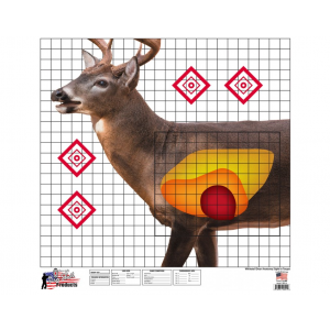 Pro-Shot WDSI5PK American Whitetail Sight-In Target 25x 25 in.  5 Pack in.