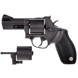 Taurus 2692031 692 Standard Single|Double 38 Special|357 Magnum|9mm 3 7 rd Black Ribber Grip Black Carbon Steel in.