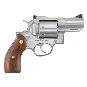 Ruger 5043 Redhawk Big Bore Revolver 44 Remington Magnum 5.5 6 Rd Wood Grip Satin Stainless in.