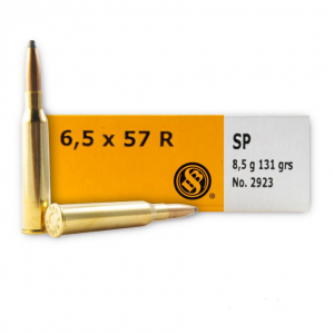 Sellier & Bellot SB6557RA Rifle 6.5X57mmR 131 GR Soft Point 20 Bx| 20 Cs