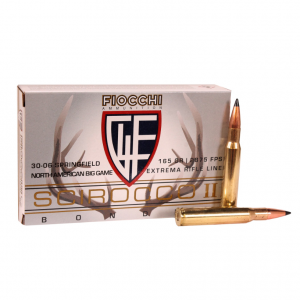 Fiocchi A3006SCA Extrema 30-06 Springfield 165 GR Spitzer Boat Tail 20 Bx| 10 Cs