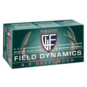 Fiocchi 65CMB   6.5 Creedmoor 129 GR Pointed Soft Point 20 Bx| 10 Cs