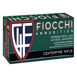 Fiocchi 4570B   45-70 Government 100 GR 300 GR Jacketed Hollow Cavity 20 Bx| 10 Cs