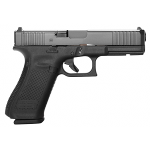 Glock PA175S201MOS G17 Gen 5 MOS FS 9mm Luger Double 4.49 10+1 Black Polymer Grip|Frame Black nDLC Slide in.