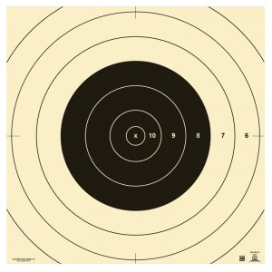 ACTION TARGET INC SR1C100 SR-1C 100-Yard Replacement Center Tagboard 10.50in. x 10.50in. Bullseye Black/White 100 Per Box