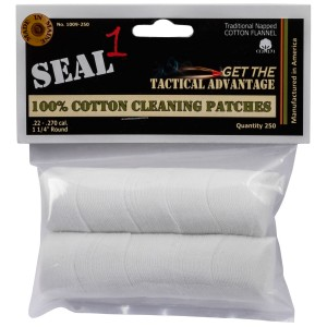 Seal 1 1009-250 Cleaning Patches 250 Count Cotton