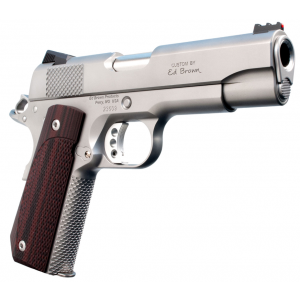 Ed Brown KC18SS Kobra Carry Single 45 Automatic Colt Pistol (ACP) 4.25 7+1 FOF Laminate Wood Grip Stainless Steel in.